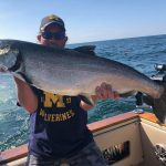 Salmon Fishing in Muskegon Lake