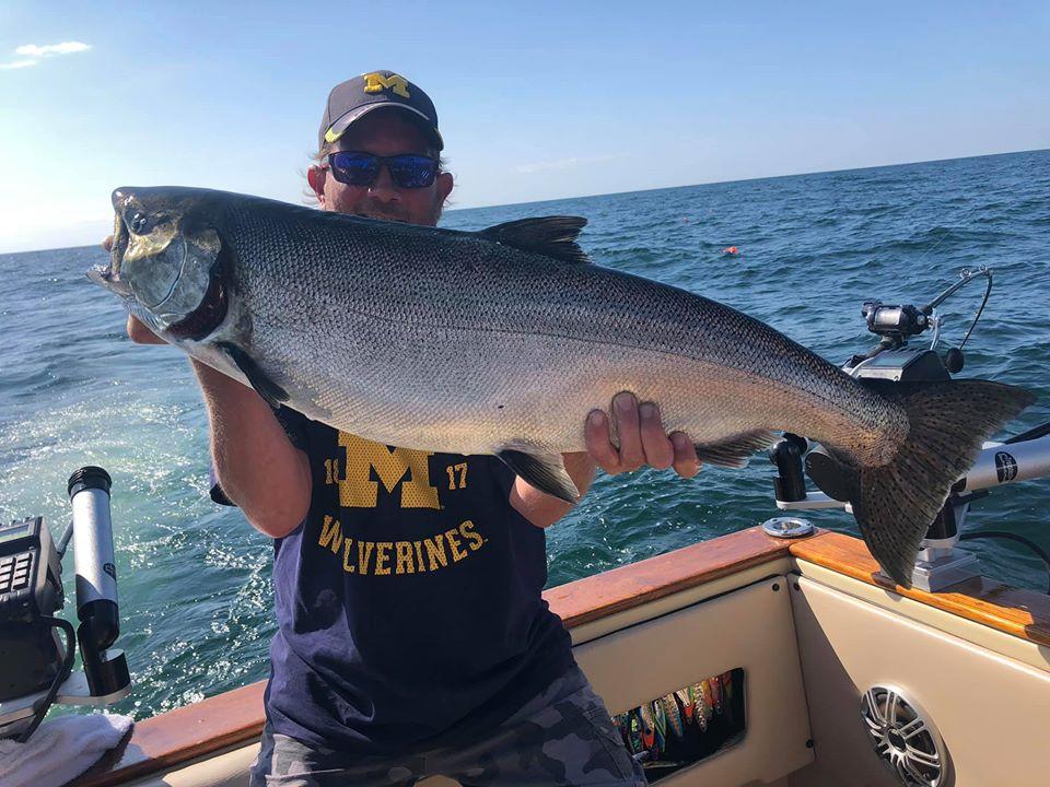 Salmon Fishing in Muskegon Lake