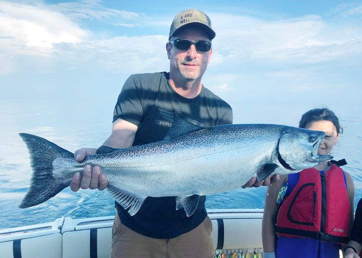 Steel Head Fishing in Lake Michigan