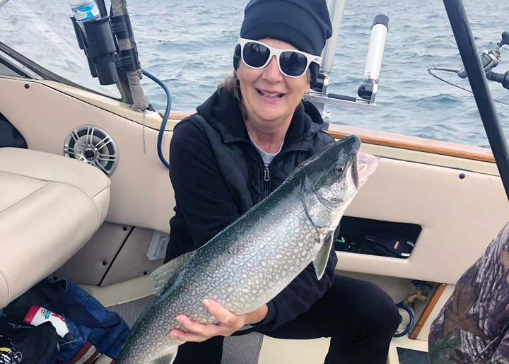 Trout Fishing in Muskegon Lake
